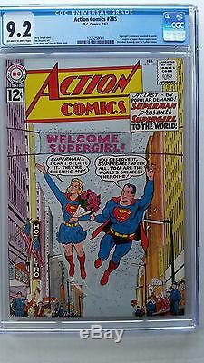 Action Comics # 285 Cgc 9.2 Nm - Supergirl Se Révèle Au Monde