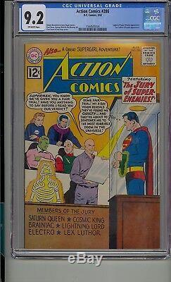 Action Comics # 286 Cgc 9.2 Legion Superman De Super-vilains Lex Luthor Krypto