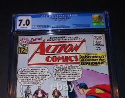 Action Comics 287 Cgc 7.0 F/vf Silver Age Superboy Et Légion Des Super Héros