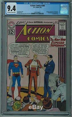 Action Comics # 288 Cgc 9.4 Meilleure Cgc Copie Une Seule De 9 A 9.4 Owithw 1962 003 Pgs