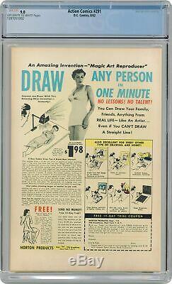 Action Comics # 291 Cgc 9.0 1962 1397051002
