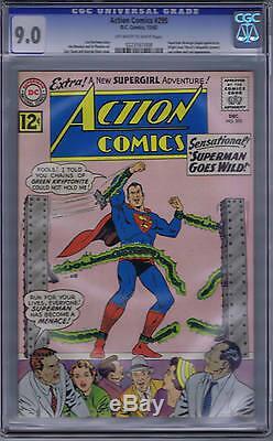 Action Comics # 295 DC 1962 Cgc 9.0 (très Fin / Proche Mint)