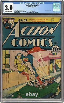 Action Comics #29 Cgc 03.0 1940 2015648018