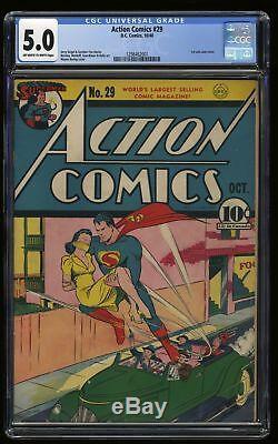 Action Comics # 29 Cgc Vg / Fn 5.0 Blanc Cassé À Blanc