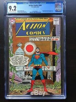 Action Comics # 300 Cgc Nm- 9.2 Ow-w Couverture Classique Swan Apocalypse