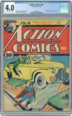 Action Comics # 30 Cgc 4.0 1940 1488668016