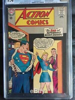 Action Comics # 313 Nm Cgc 9.4 Ow-w Couverture Supergirl App Batman