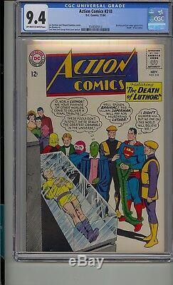 Action Comics # 318 Cgc 9.4 Superman Décès De Lex Luthor Brainiac App