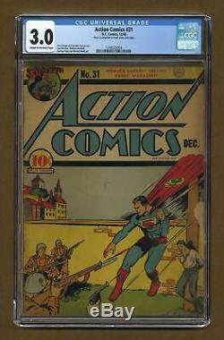 Action Comics # 31 Cgc 3.0 1940 1248335004