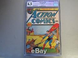 Action Comics # 31 Cgc 6.5 1940 Comic Book