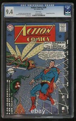 Action Comics 326 Cgc Nm Deuxième Plus Haut Classé Juste Superbe Argent Age Superman