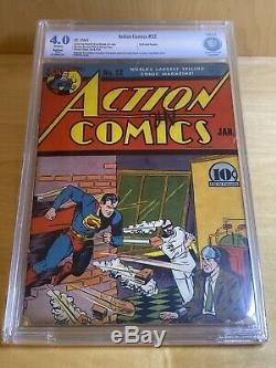Action Comics # 32 1941 Cbcs 4.0 Pas Cgc Restauré 1er Krypto Ray Gun! Seigel Mp