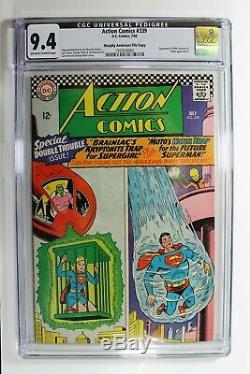 Action Comics # 339 DC Comics 7/66 Cgc Graded 9.4 Rare Superman Et Supergirl