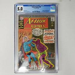 Action Comics 340 Cgc 5.0 White Pages 1ère Application Et Origine De Parasite DC Comics