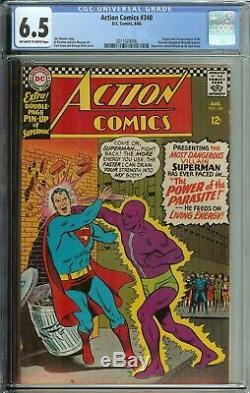 Action Comics # 340 Cgc 6.5 Origine Et 1er App Parasite Raymond Maxwell