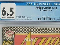 Action Comics #340! Origine Et 1ère Apparition Du Parasite. Curt Swan. Cgc 6,5