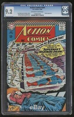Action Comics 344 Cgc Nm Minus Troisième Plus Gradé Juste Superbe S Âge Superman