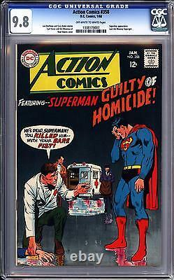 Action Comics #358 Cgc 9.8 Oww Pgs Superman Neal Adams Cover, Highest Certified
