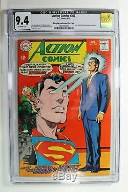 Action Comics # 362 DC Comics 4/68 Cgc Graded 9.4 Rare Superman