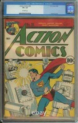 Action Comics #36 Cgc 8.5 Ow Pages // Golden Age Superman Cover
