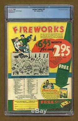 Action Comics # 37 Cgc 5.0 1941 1420405017