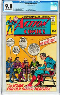 Action Comics #386 Cgc 9.8 Oww Superman Cover #0962597012
