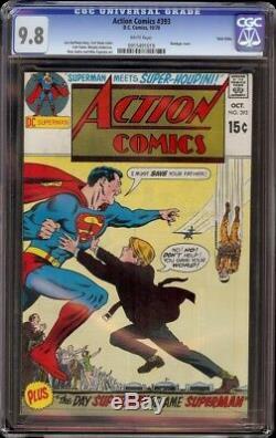 Action Comics # 393 Cgc 9,8 Blanc (dc 1970) Le Plus Gradé, Jumeaux Pedigree Villes