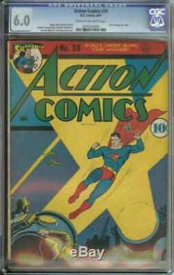 Action Comics # 39 Cgc 6,0 Cr / Ow Pages