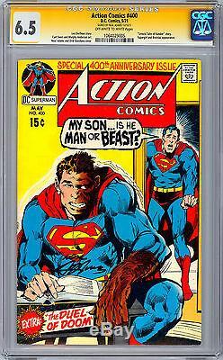 Action Comics # 400 Cgc Ss 6.5 Signé Par Neal Adams, Numéro Du 400ème Anniversaire De 1971