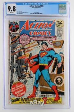 Action Comics # 405 -mint- Cgc 9,8 Nm / Mt DC 1971 -superman- Grade Plus Haut