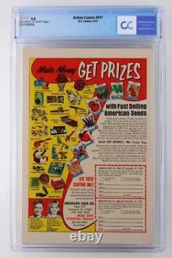 Action Comics #411 -mint- Cgc 9.8 Nm/mt DC 1972 Superman! Application Supergirl