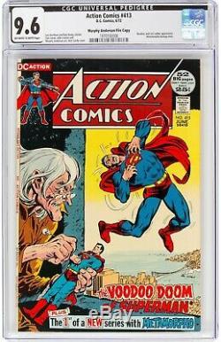 Action Comics # 413 Cgc 9.6 Murphy Anderson Copie De Fichier Neal Adams Arbre Généalogique