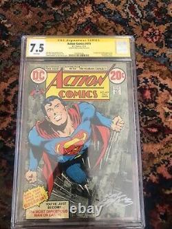 Action Comics #419 Cgc 7.5, Première Cible Humaine, Signée Par Neal Adams