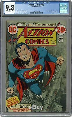 Action Comics # 419 Cgc 9.8 1972 1397047009 1er App. Cible Humaine