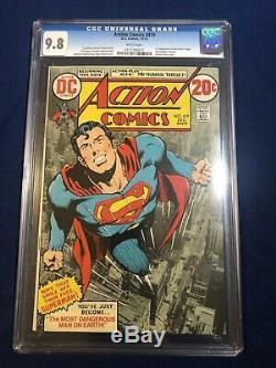 Action Comics # 419 Cgc 9.8 Pages Blanches Classique Neal Adams Superman Couverture