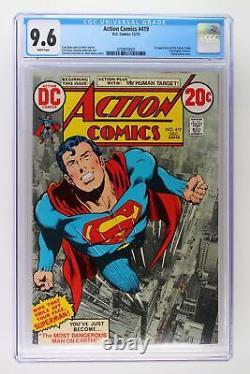 Action Comics #419 DC 1972 Cgc 9.6 1ère Apparition De La Cible Humaine