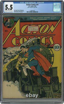 Action Comics # 41 Cgc 5.5 1941 1249875001