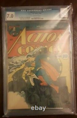 Action Comics #41 Cgc 7.0 High Grade Early Superman Golden Age Classic Train