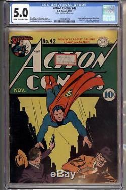 Action Comics # 42 Cgc