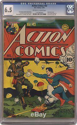 Action Comics # 43 Cgc 6.5 1941 1197382002