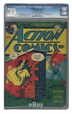Action Comics # 47 Cgc 4.0 1942 0916811002