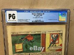 Action Comics 4 Cgc Pg Page 2 Seulement Quatrième Apparition De Superman