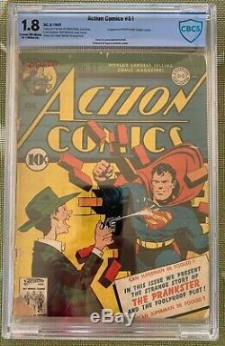 Action Comics # 51 (1942) Cbcs 1.8 - Première Apparition Farceur Comme Cgc