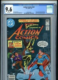 Action Comics #521 Cgc 9.6 Blanc 1er Vixen