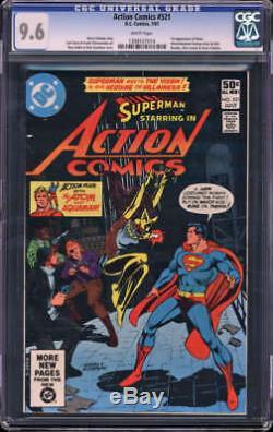 Action Comics # 521 Cgc 9,6 Nm + Wp 1ère Application Vixen Histoire De Sauvegarde Atom / Aquaman