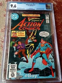 Action Comics # 521 Cgc 9.6 Wp 1er App Vixen (mari Jiwe Mccabe) Question Clé P