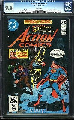 Action Comics 521 Cgc 9,6 Wp Bronze Age Touche DC Comic 1st App Vixen Igkc L @@ K