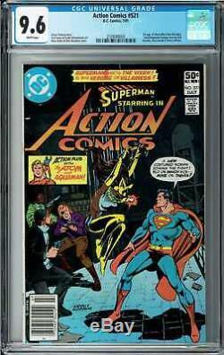 Action Comics # 521 Cgc 9.6 (juillet 1981, Dc) Superman, 1ère Application Vixen, Atom Histoire