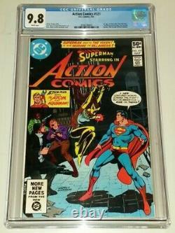 Action Comics #521 Cgc 9.8 Pages Blanches DC Comics Juillet 1981 1er Vixen (b) (sa)