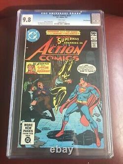 Action Comics #521 Cgc 9.8 Pages Blanches. Première Apparition De Vixen